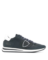 Мужские темно-синие кожаные кроссовки от Philippe Model