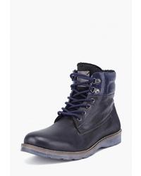 Мужские темно-синие кожаные повседневные ботинки от Airbox