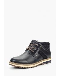 Мужские темно-синие кожаные повседневные ботинки от Alessio Nesca