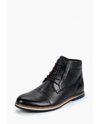 Мужские темно-синие кожаные повседневные ботинки от Comecity