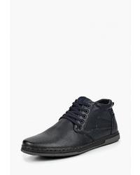 Мужские темно-синие кожаные повседневные ботинки от Instreet