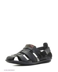 Мужские темно-синие кожаные сандалии от Calipso