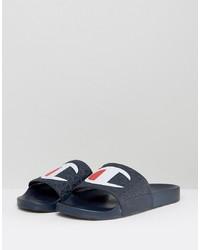 Мужские темно-синие кожаные сандалии от Champion