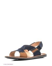 Мужские темно-синие кожаные сандалии от Marko