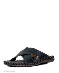 Мужские темно-синие кожаные сандалии от NexPero