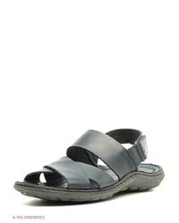 Мужские темно-синие кожаные сандалии от SHOIBERG