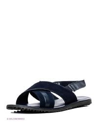 Мужские темно-синие кожаные сандалии от Vitacci