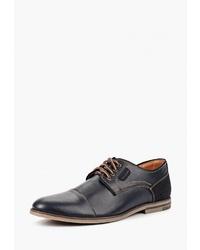 Темно-синие кожаные туфли дерби от Alessio Nesca