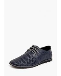 Темно-синие кожаные туфли дерби от h4