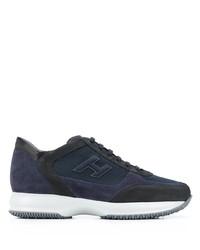 Мужские темно-синие кроссовки от Hogan