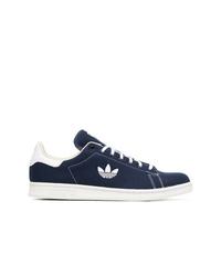 Мужские темно-синие низкие кеды из плотной ткани от adidas