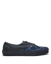 Мужские темно-синие низкие кеды из плотной ткани от Vans