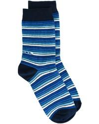 Мужские темно-синие носки в горизонтальную полоску от Diesel