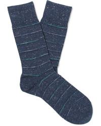 Мужские темно-синие носки в горизонтальную полоску от Falke