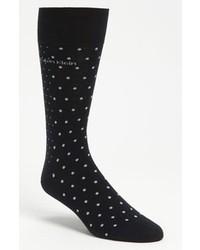 Темно-синие носки в горошек