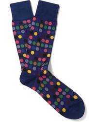 Мужские темно-синие носки в горошек от Paul Smith