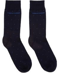 Мужские темно-синие носки в горошек от Tiger of Sweden