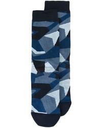 Мужские темно-синие носки с камуфляжным принтом от Diesel