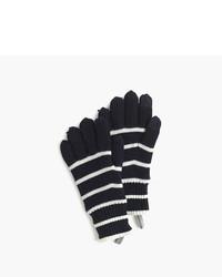 Темно-синие перчатки