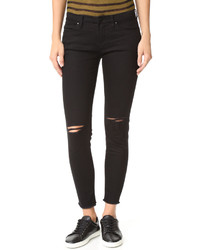 Женские темно-синие рваные джинсы скинни от Blank