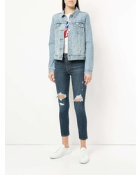 Темно-синие рваные джинсы скинни от Levi's