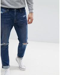 Мужские темно-синие рваные джинсы от Abercrombie & Fitch