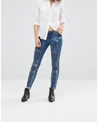 Женские темно-синие рваные джинсы от Blank NYC