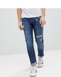 Мужские темно-синие рваные джинсы от Brooklyn Supply Co.