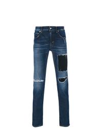 Мужские темно-синие рваные джинсы от Department 5