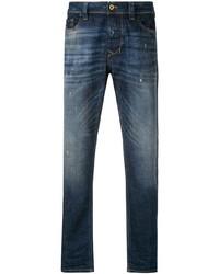 Мужские темно-синие рваные джинсы от Diesel