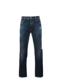 Мужские темно-синие рваные джинсы от Dolce & Gabbana