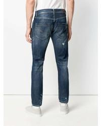 Мужские темно-синие рваные джинсы от Dondup