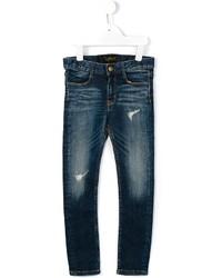 Детские темно-синие рваные джинсы для девочке от Finger In The Nose