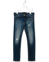 Детские темно-синие рваные джинсы для мальчиков от Finger In The Nose