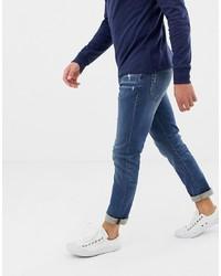 Мужские темно-синие рваные джинсы от J.Crew Mercantile