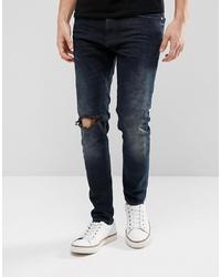 Мужские темно-синие рваные джинсы от Just Junkies