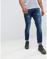 Мужские темно-синие рваные джинсы от Soul Star