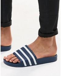 Мужские темно-синие сланцы от adidas