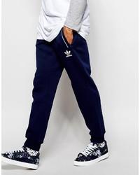 Мужские темно-синие спортивные штаны с принтом от adidas