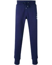 Мужские темно-синие спортивные штаны с принтом от Love Moschino