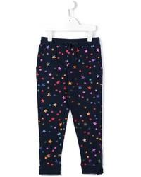 Детские темно-синие спортивные штаны с принтом для девочке от Stella McCartney