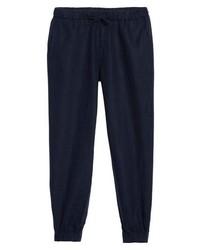 Темно-синие спортивные штаны