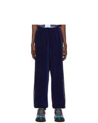 Мужские темно-синие спортивные штаны от Gucci