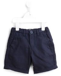 Детские темно-синие хлопковые шорты для мальчику от Armani Junior