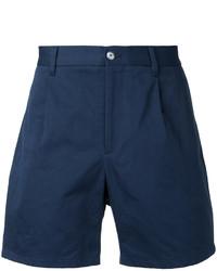 Мужские темно-синие хлопковые шорты от Kent & Curwen