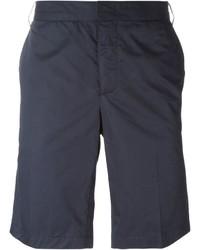 Мужские темно-синие хлопковые шорты от Lanvin