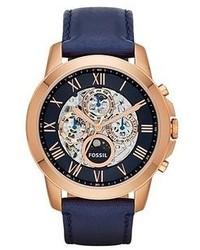 Темно-синие часы