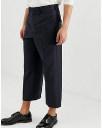 Темно-синие шерстяные брюки чинос от ASOS DESIGN