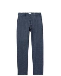 Темно-синие шерстяные брюки чинос от Boglioli