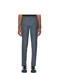 Темно-синие шерстяные брюки чинос от BOSS